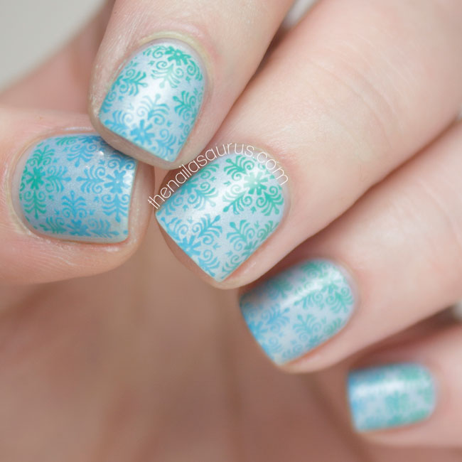Gradient Stamping Nail Art Tutorial