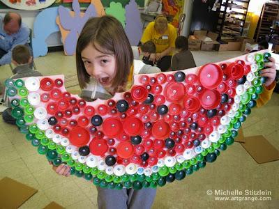 http://www.artgrange.com/michellebottlecapart.html