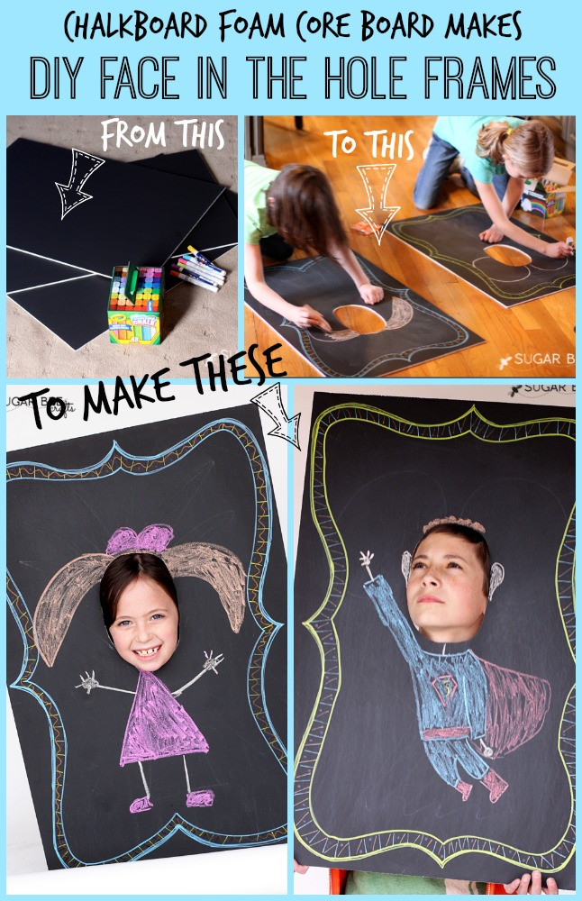 How to Make a Face in the Hole Board (Chalkboard Cut out)