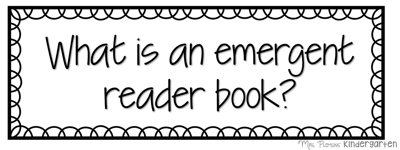Resultado de imagen de emergent readers