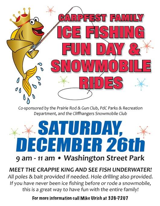 Ice Fishing and Snowmobile Rides