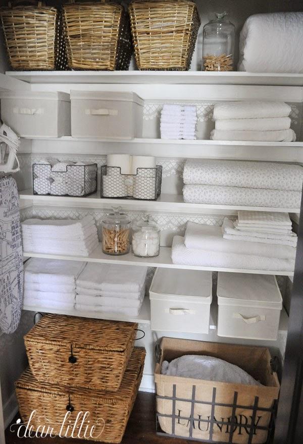 Dear lillie our linen closet makeover for Linen closet designs