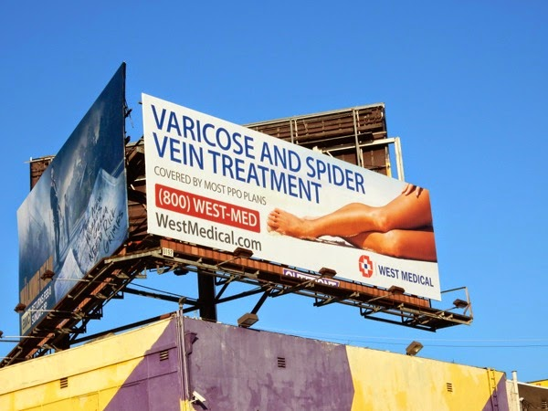 Varicose vein treatment West Medical billboard