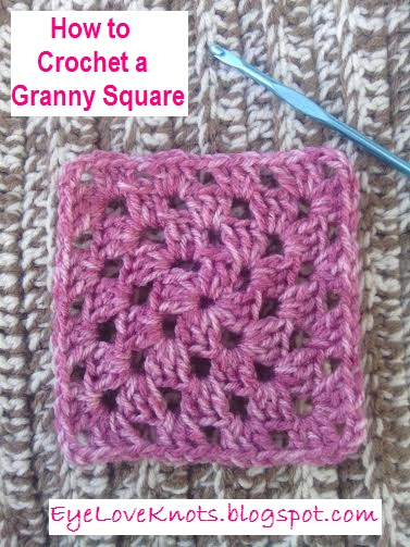 How To Crochet Tutorial Pictures : EyeLoveKnots: How to Crochet a Granny Square with Photo ...