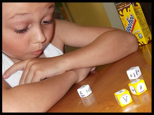 Greek Alphabet Dice Game