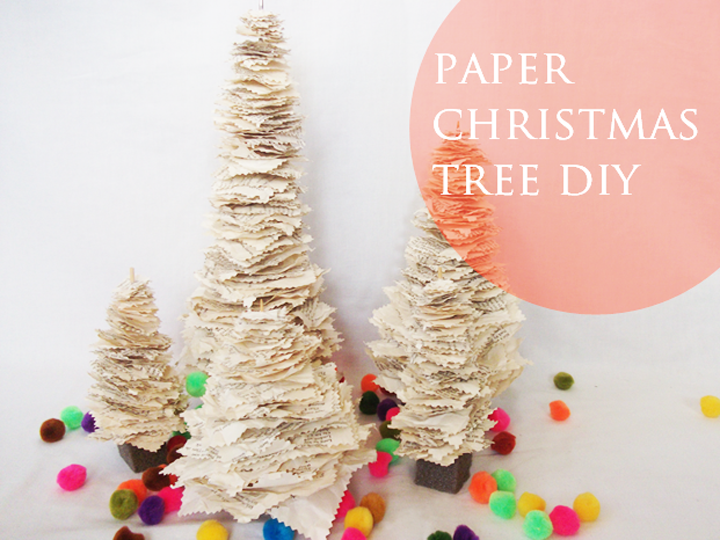 Christmas Tree Decorations Using Paper : A daily something diy paper christmas tree