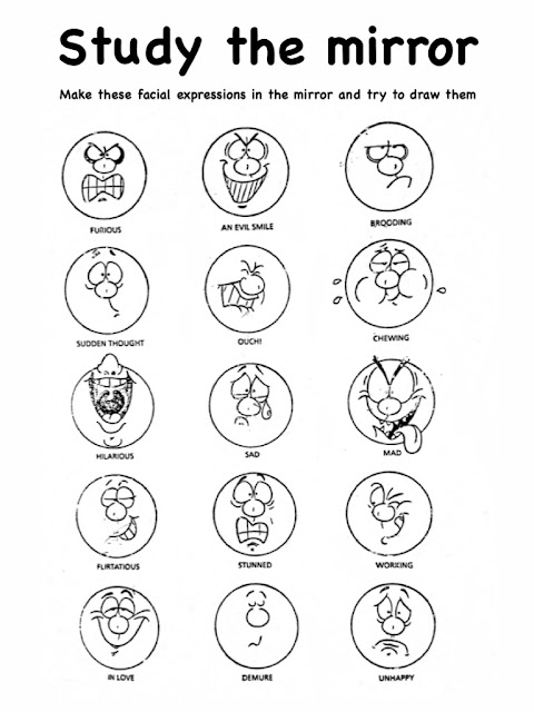 Facial Expression Worksheet for Kids