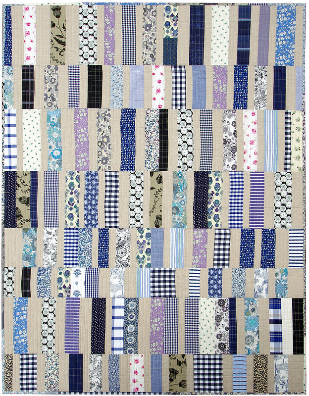 Worn and Washed Strip Quilt | Red Pepper Quilts 2015