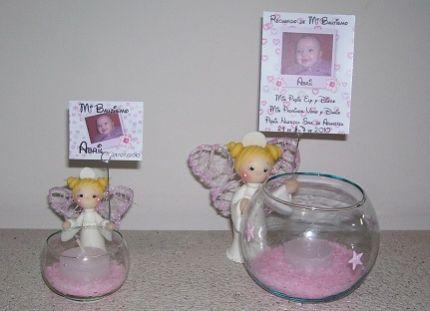 Centros de mesa para bautizos con velas parte 5 - Peceras pequenas decoradas ...