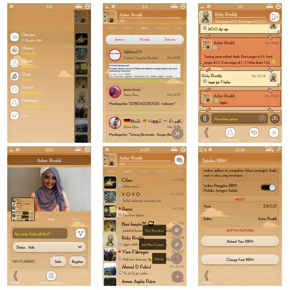 BBM Simple Brown versi 2.8.0.21