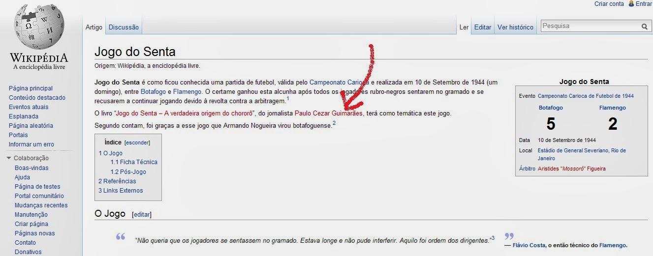 JOGO DO SENTA na wikipédia
