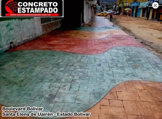 Concrearteoriente galer a de concreto estampado for Cemento estampado precio