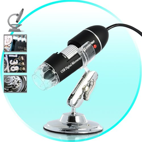 USB Digital Microscope for Computers (400x, 8 Super-Bright LEDs)