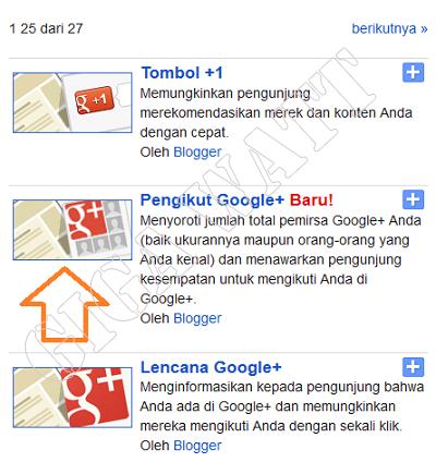 Fitur Baru Gadget Google + di Blogger