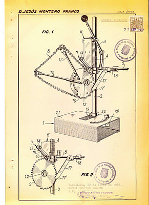 Afilador de Cadenas Montero de 1967 - Montero Chain Sharpener Chainsaw