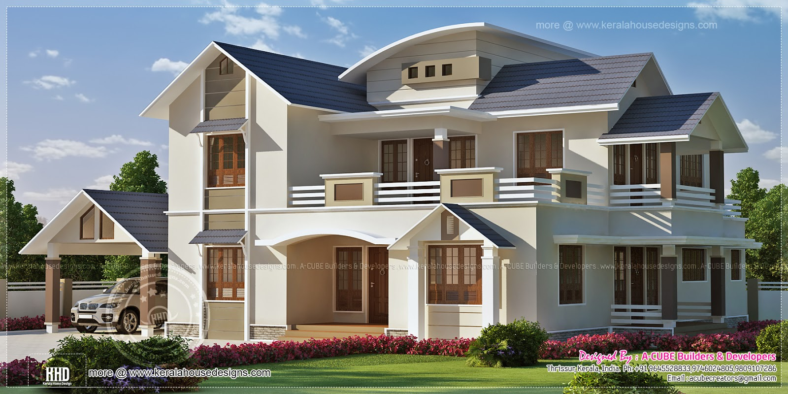 Ground Floor Elevation In Kerala : Sq ft house elevation design home kerala plans