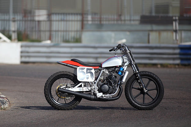 Honda Flat Track Racer on yamaha 750 two stroke