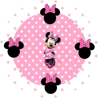 Minnie Mouse  Toppers O Etiquetas Para Imprimir Gratis  En Tonos Rosa