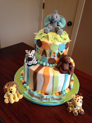 decadent designs jungle animal baby shower cake