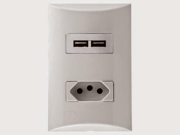 Tomada Siemens com entradas USB