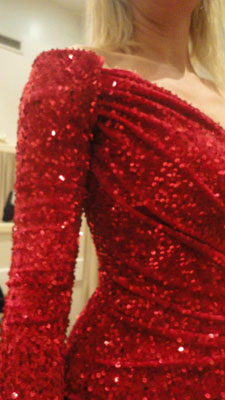 detalles vestido Anne Igartiburu campanadas