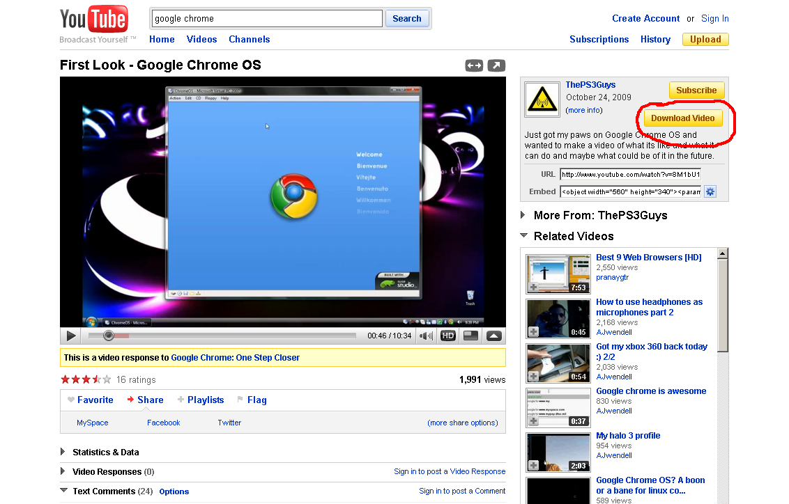 YouTube Downloader[ A Google Chrome Extension ] Screenshot