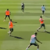 Cristiano Ronaldo messes while passing at Real Madrid training