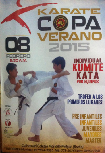 """CAMPEONATO  DE KARATE  """"COPA VERANO 2015"""" Lima-Perú"""