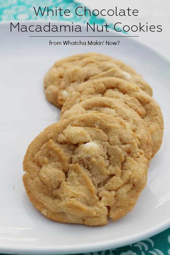 White Chocolate Macadamia Nut Cookies | WhatchaMakinNow.com