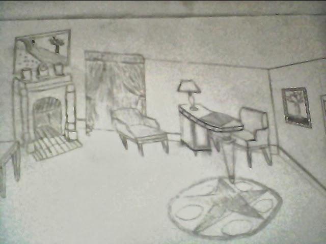 Dessin architecture interieur for Dessin sur mur interieur