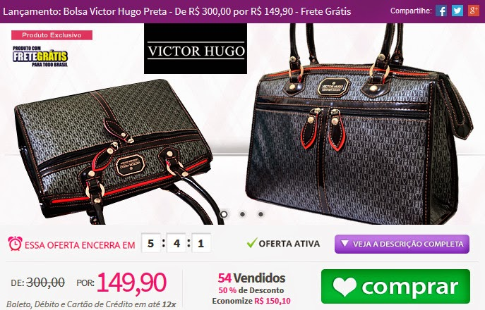 http://www.tpmdeofertas.com.br/Oferta-Lancamento-Bolsa-Victor-Hugo-Preta---De-R-30000-por-R-14990---Frete-Gratis-941.aspx