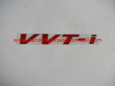 Emblem Alumunium Red VVT-I