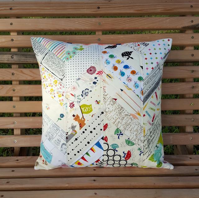 Low Volume Herringbone Pillow by Heidi Staples for Fabric Mutt