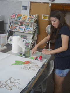 Kauai Hawaii silk painting