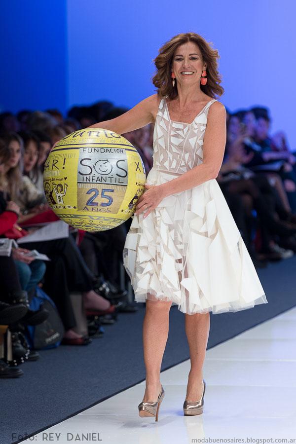 Vestido de la colección María Vazquez primavera verano 2016.