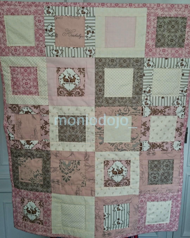 Tutorial manta de patchwork para bebé.