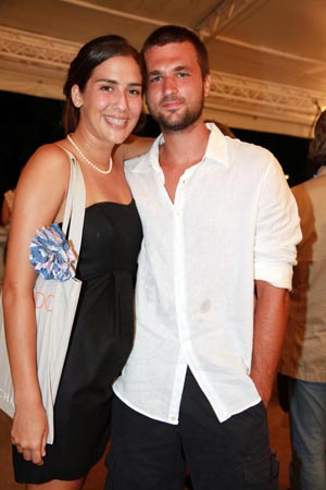 Victoria Jane e Pedro Setubal.