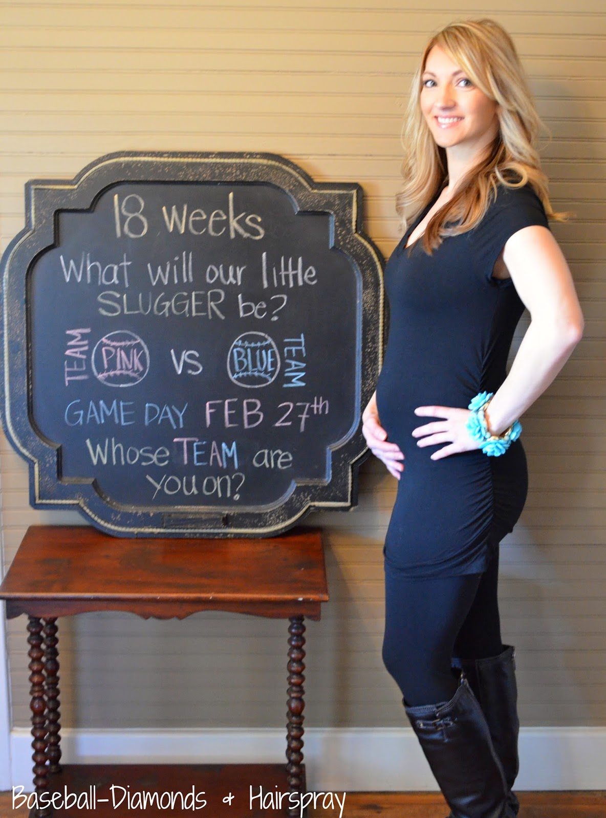 18 weeks belly chalkboard pregnant weekly bumpdate