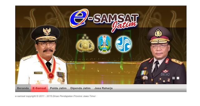 Halaman depan E-Samsat