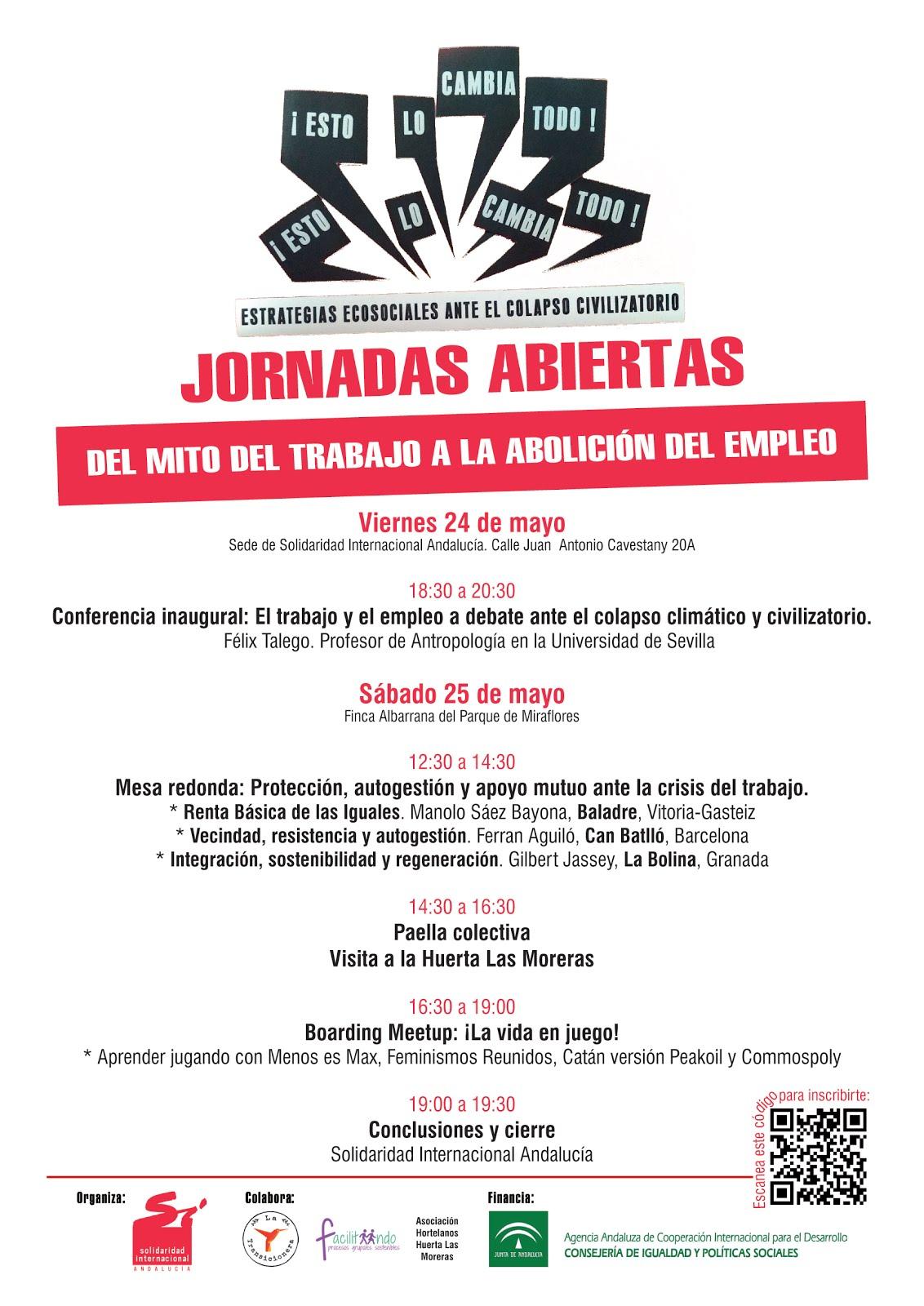 JORNADAS ABIERTAS:DEL MITO DEL TRABAJO A LA ABOLICIÓN DEL EMPLEO.