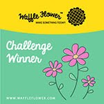Gané el reto de diciembre 2015 de Waffle Flower: