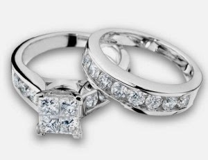 Most Beautiful Engagement Wedding Rings with White Diamond Bead