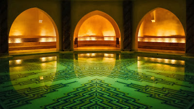 Hammam bath house beneath the Hassan II Mosque, Casablanca, Morocco (© roevin/Flickr/Getty Images) 381