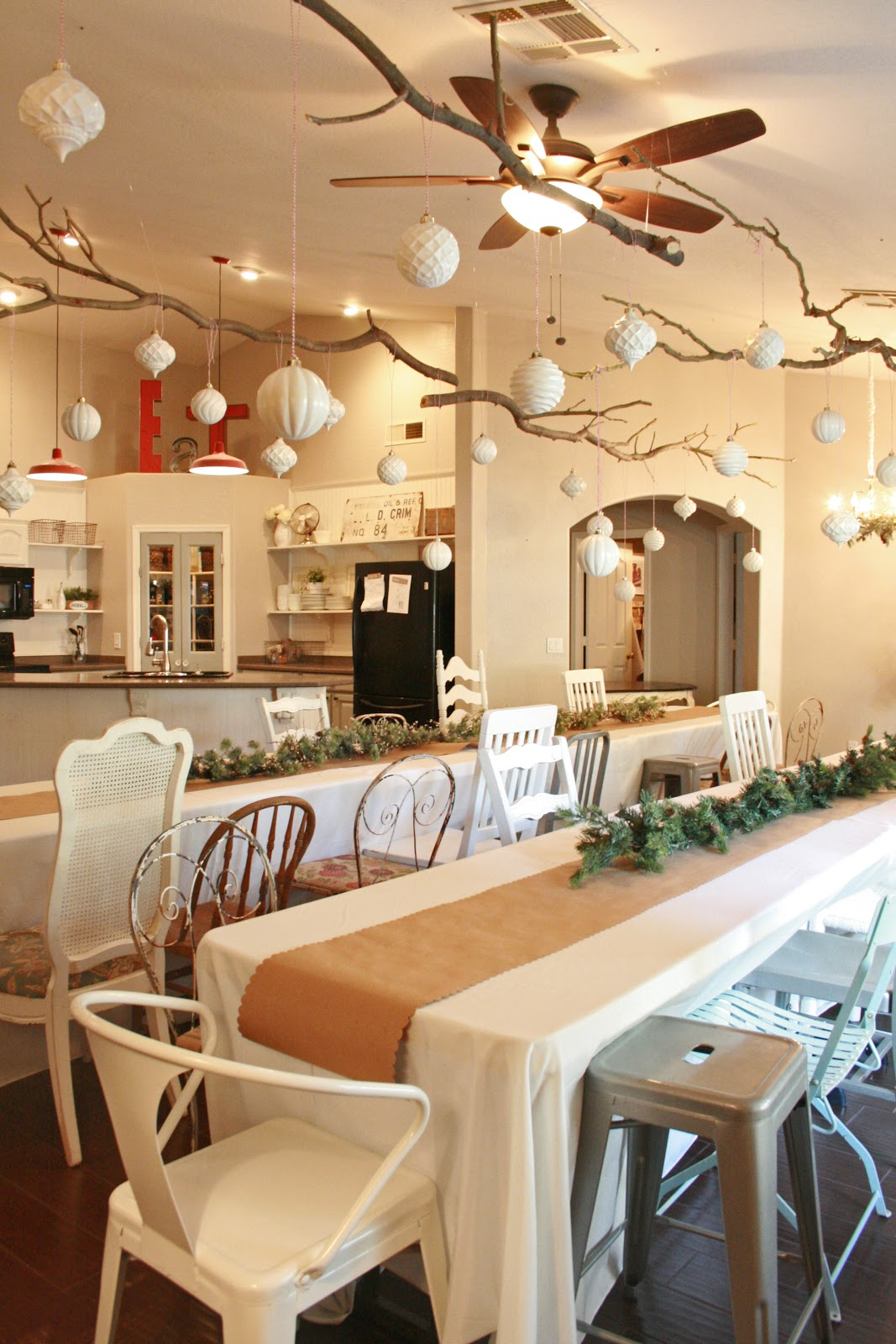 Christmas Party With Ideas For Ceiling Decorations
