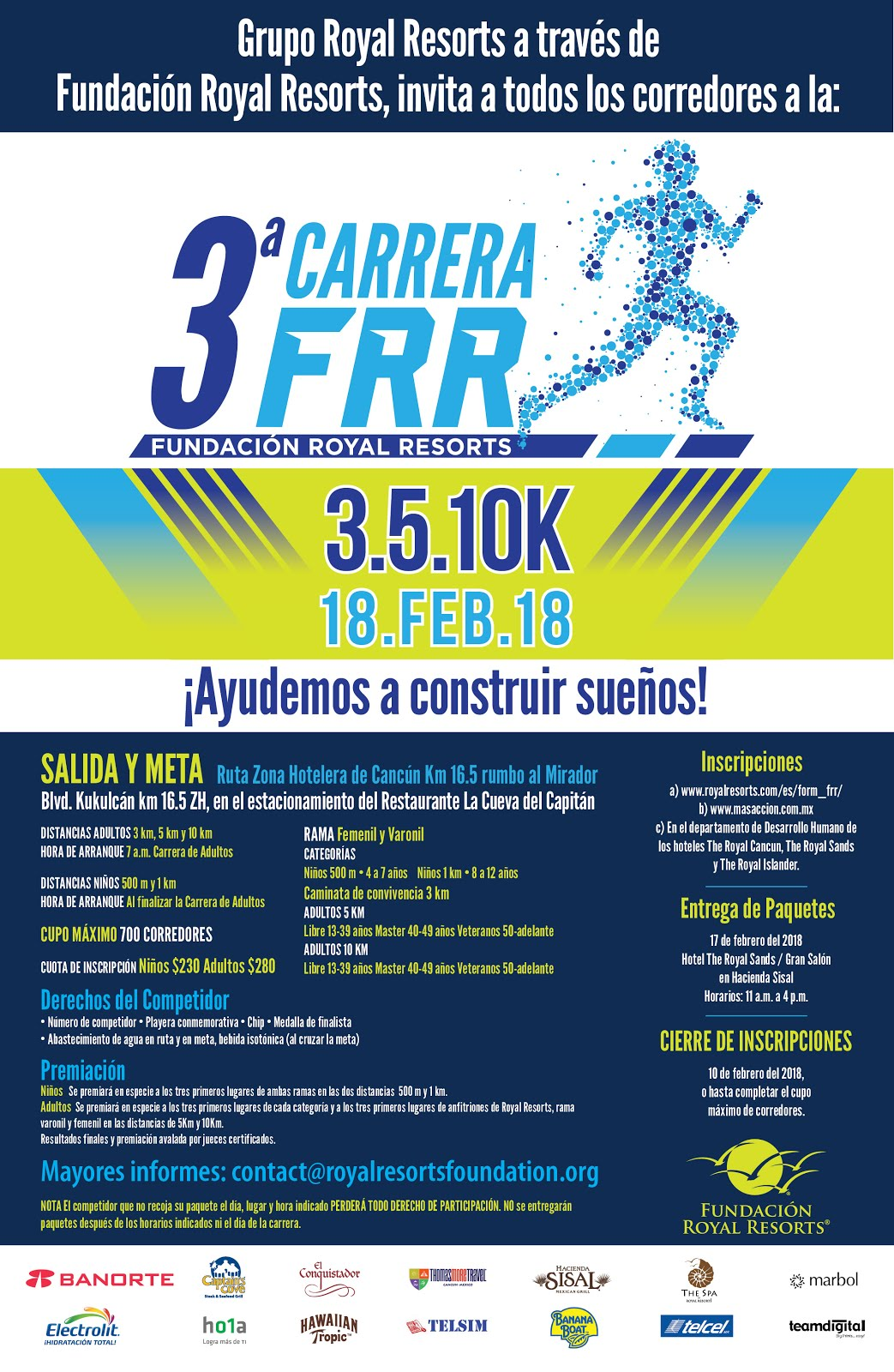 3ra Carrera Fundación Royal Resorts