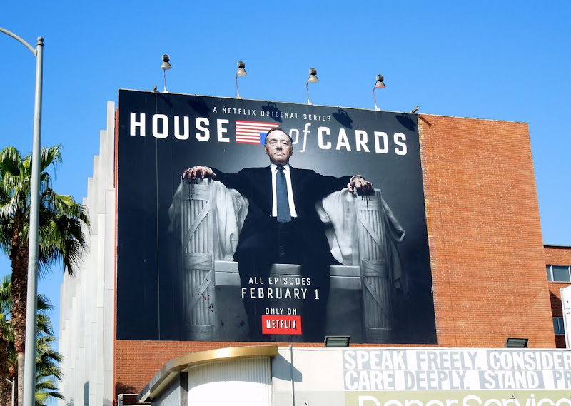 House of Cards series premiere billboard