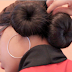 Double Sock Bun Protective Natural Hairstyle