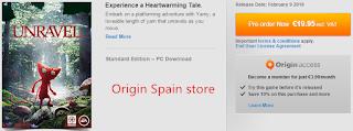 Unravel origin Spain price