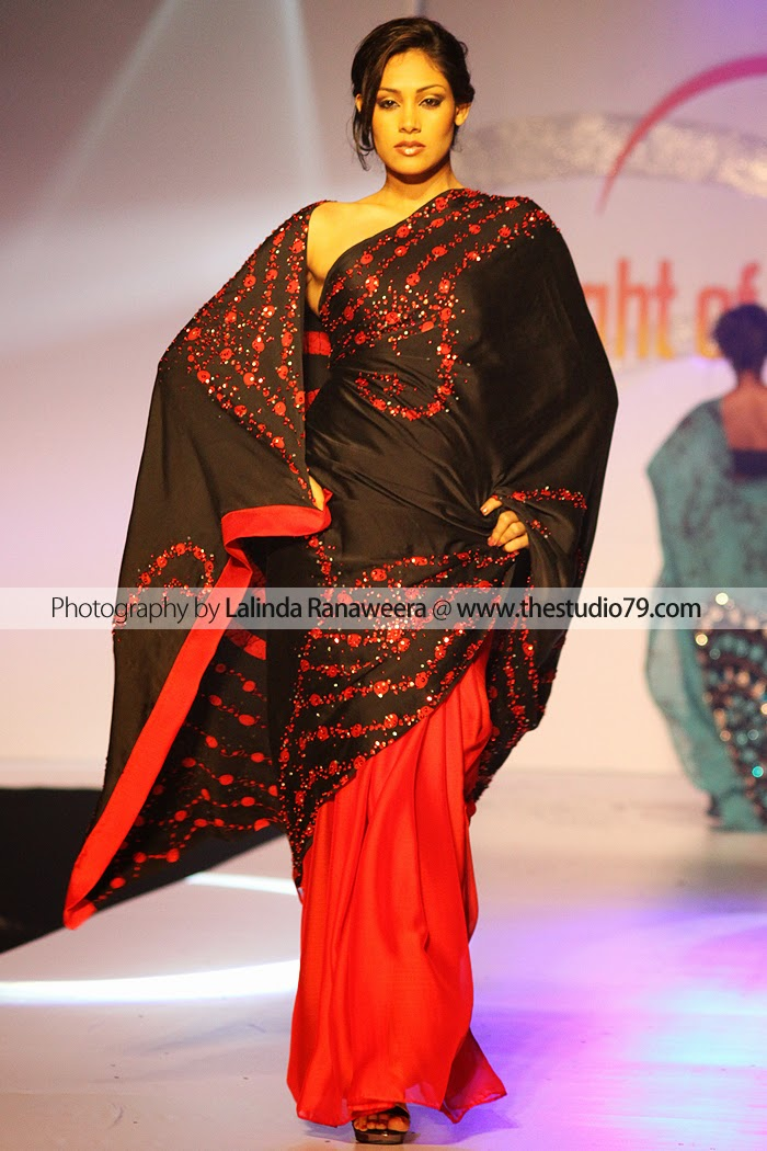 Sri Lanka Fashion Model saree
