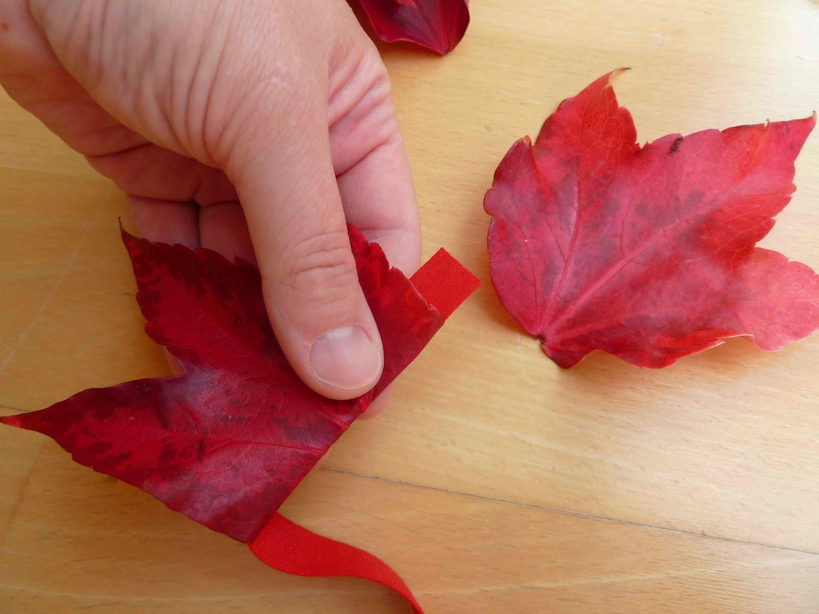 Blätterkrone basteln